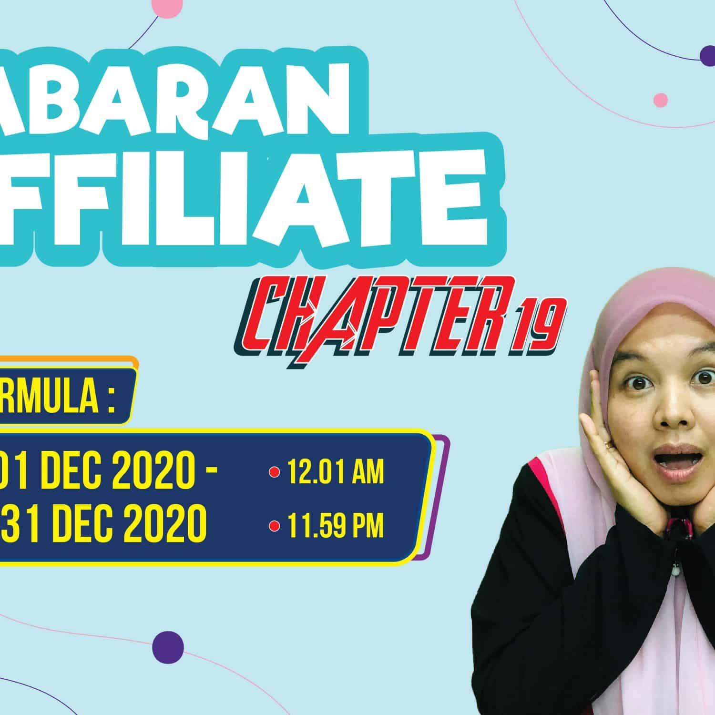 Cabaran Affiliate Chapter-19 (1/12/2020 – 31/12/2020)